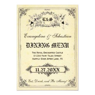 "Fairy Tale Storybook Wedding Menu Cards 5"" X 7"" Invitation Card"