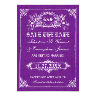 Fairy Tale Storybook Wedding Save the Date Cards