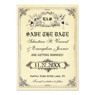 """Fairy Tale Storybook Wedding Save the Date Cards 5"""" X 7"""" Invitation Card"""