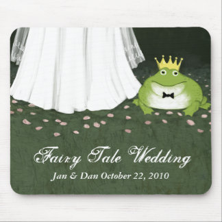 Fairy Tale Wedding Bride & Frog Prince Mouse Pads