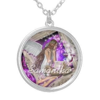Fairy tale wedding favor girly custom necklace