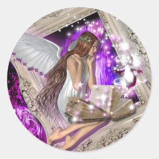 Fairy tale wedding favor seals round sticker