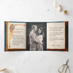 Fairy Tale Wedding Photo Tri-Fold Invitation