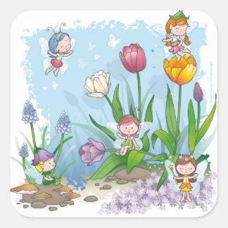 Fairy tale world 3 square sticker