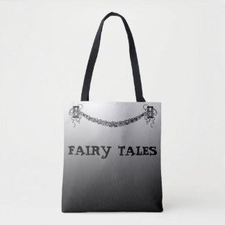 Fairy Tales Black Gradient Retro Hourglass Banner Tote Bag