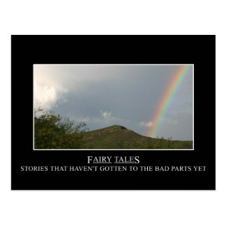 Fairy tales don t really have happy endings postcard