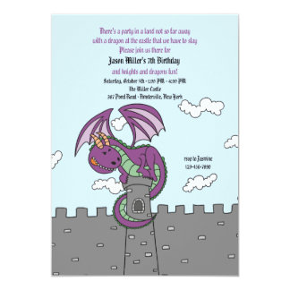 Fairy Tales Dragon Invitation