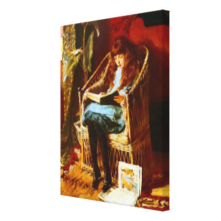 Fairy Tales Portrait by Mary Gow Canvas Print