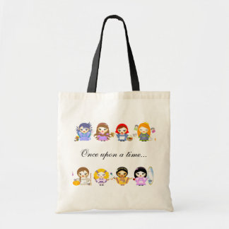Fairy tales revisited budget tote bag