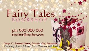 Bookshop business cards zazzle fairy tales stars bookshop business card reheart Image collections
