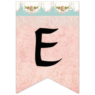 Fairy Tea Party Cute Girl Baby Name Party Decor Bunting Flags