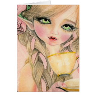 Fairy tea party Fantasy Card