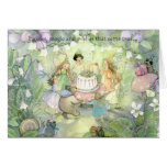Fairy tea party invitations greeting cards