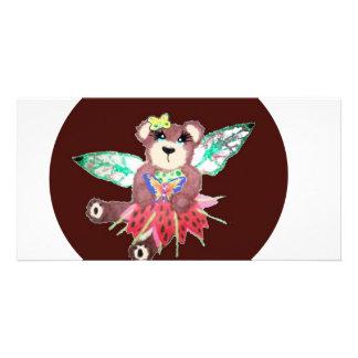 Fairy tear bear photo card template
