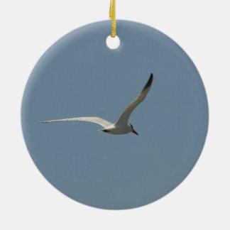 'Fairy Tern in Flight' by Miriam A Kilmer Ceramic Ornament