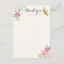 Fairy Thank You Note Card