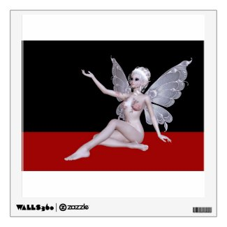 Fairy that is without clothes faerie wall graphic