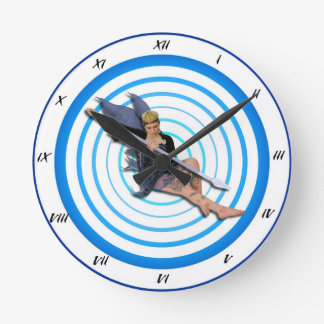 Fairy Time Round Clock