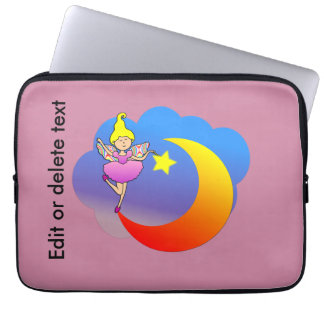 Fairy Tip-toeing on a Crescent Moon Laptop Computer Sleeves