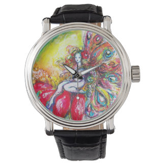 FAIRY TITANIA  ON THE RED FLOWER WRIST WATCHES