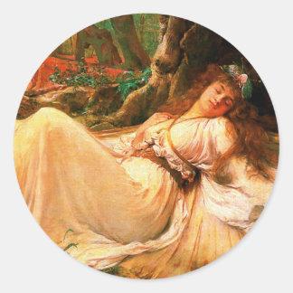 "Fairy ""Titania"" painting Classic Round Sticker"