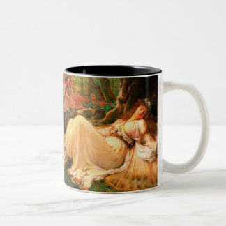 "Fairy ""Titania"" painting Two-Tone Coffee Mug"