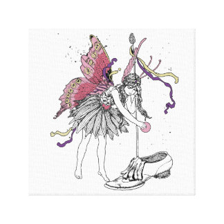 Fairy Treat In Shoe Canvas Print
