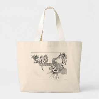 fairy tree branch tote bags
