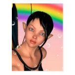 Fairy under Rainbow Postcard
