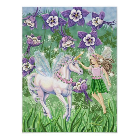 Fairy Unicorn mini poster