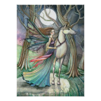 Fairy Unicorn Poster Print by Molly Harrison