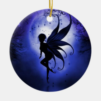 Fairy water dancer Double-Sided ceramic round christmas ornament