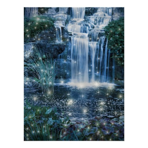 Fairy waterfall posters