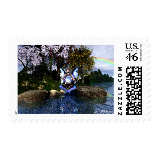Fairy WaterGlitter Postage Stamps