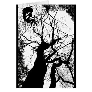FAIRY WEBBY TREE B&W CARD