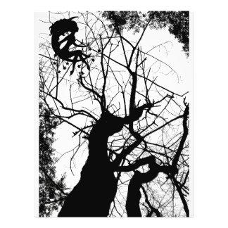 FAIRY WEBBY TREE B&W FLYER