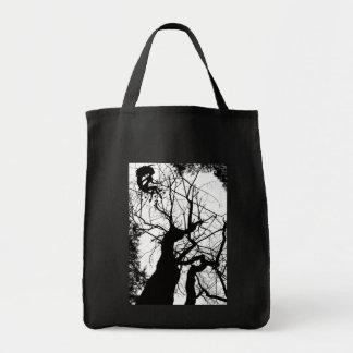 FAIRY WEBBY TREE B&W TOTE BAG