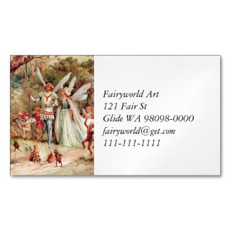 Fairy Wedding Magnetic Business Card