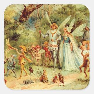 Fairy Wedding Square Sticker