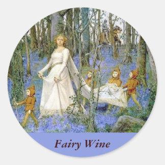 Fairy Wine Labels Sticker