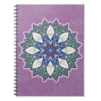 Fairy Wing Starburst Kaleidoscope Mandala Notebook