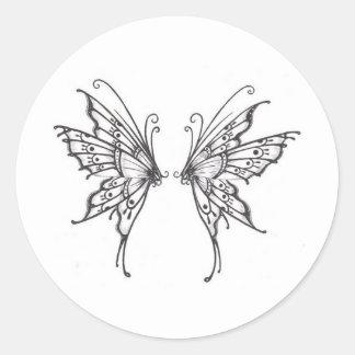 Fairy WINGS Classic Round Sticker