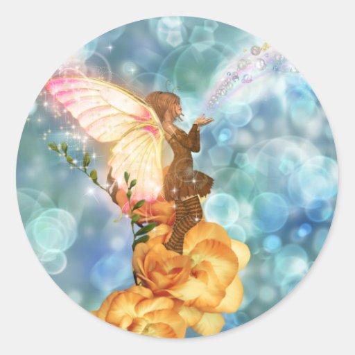 Fairy Wishes Classic Round Sticker