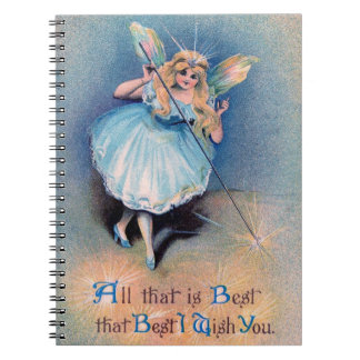 Fairy wishes noteook spiral notebook
