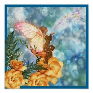 Fairy Wishes Poster print