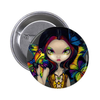 """Fairy with a Butterfly Mask"" Button"