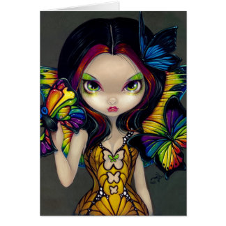 Fairy with a Butterfly Mask Greeting Card
