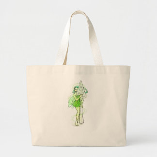 Fairy With Absinthe Spoon Large Tote Bag