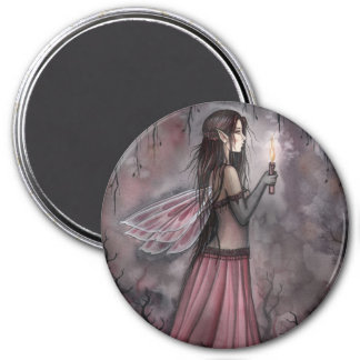Fairy with Candle Magnet by Molly Harrison