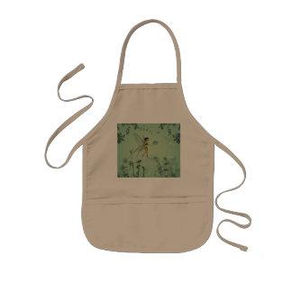 Fairy with dandelion kids' apron